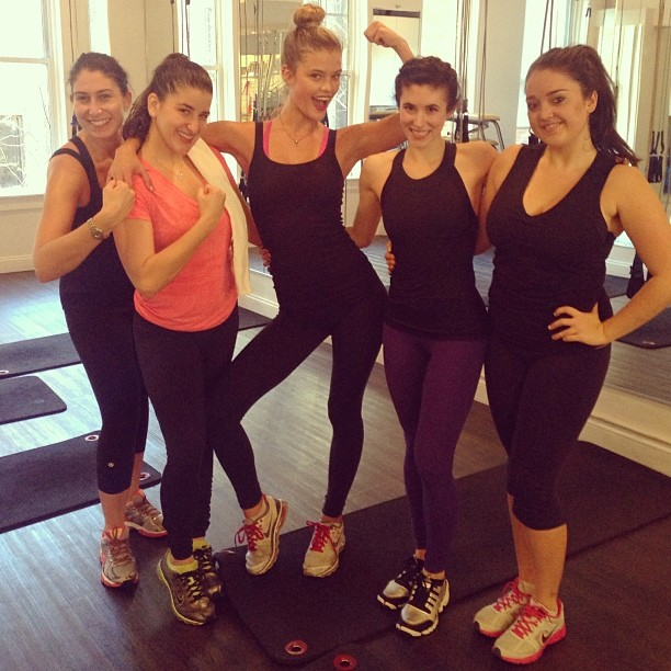 @ninaagdal: Awesome workout this morning @chaisefitness @rachiepiskin kicked our ballet bootays! with @robyn_hayley @brokemilyc @helenareneepr