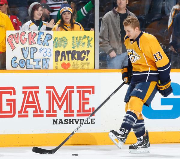 Nashville Predators vs. Chicago Blackhawks :: John Russell/NHLI via Getty Images