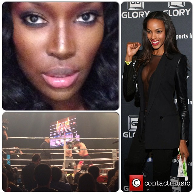 @quianagrant: A HUGE THANK YOU to the hottest #glorygirls @tiashipman for inviting me to my first kickboxing match. Love you @merrellhollis you did an AMAZING JOB!!