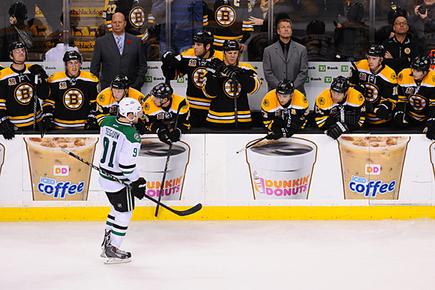 Boston Bruins vs. Dallas Stars :: AP/Elise Amendola