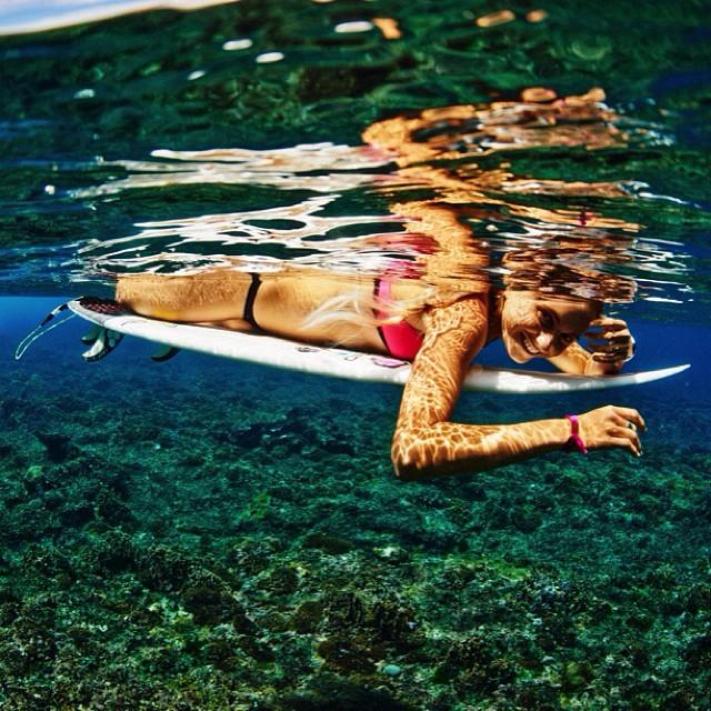Always happy in the water. @ripcurl_aus #mybikini