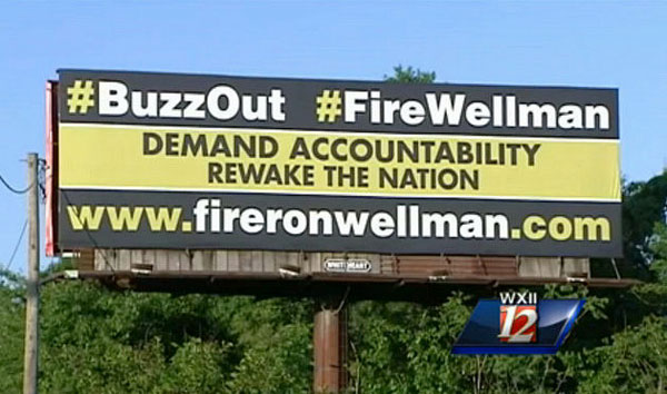 Wake Forest fans call for the firing of basketball coach Jeff Bzdelik and athletic director Ron Wellman. (Screenshot via WXII)