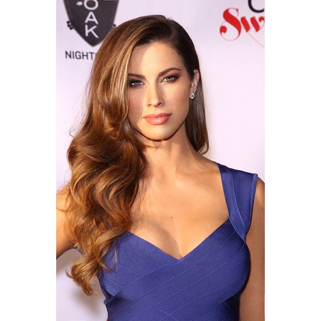 @_katherinewebb: Pic from SI Swimsuit press tour! One of my fav hair and makeup looks #siswim