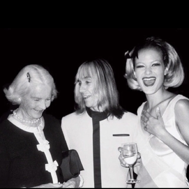 @carolynmurphy: Posh and punk, and I'm somewhere in the middle. #tbt with CZ Guest and Iggy Pop