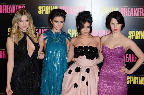 Ashley Benson, Selena Gomez, Vanessa Hudgens and Rachel Korine :: Getty Images