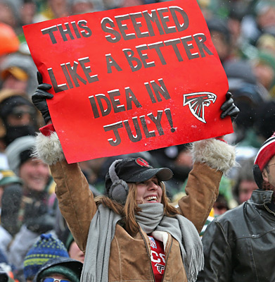 Atlanta Falcons vs. Green Bay Packers :: Jonathan Daniel/Getty Images