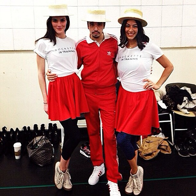 @hilaryhrhoda: ROCKETTES in TRAINING! Regram from @djcassidy with @rebeccaminkoff  #rmhappyholidays