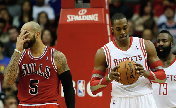 Dwight Howard and Carlos Boozer :: Getty Images