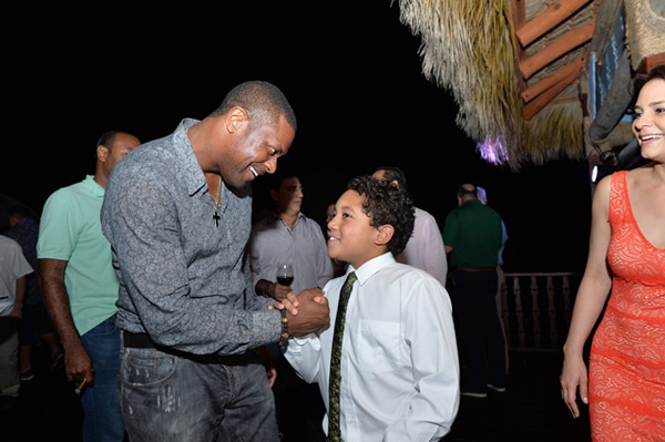 Chris Tucker and D'Angelo Ortiz :: Photo Courtesy of  David Ortiz Children's Fund