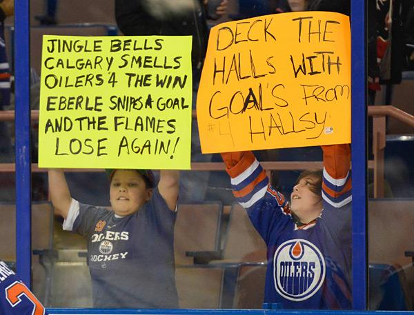 Calgary Flames vs. Edmonton Oilers :: Steven Alkok/Icon SMI