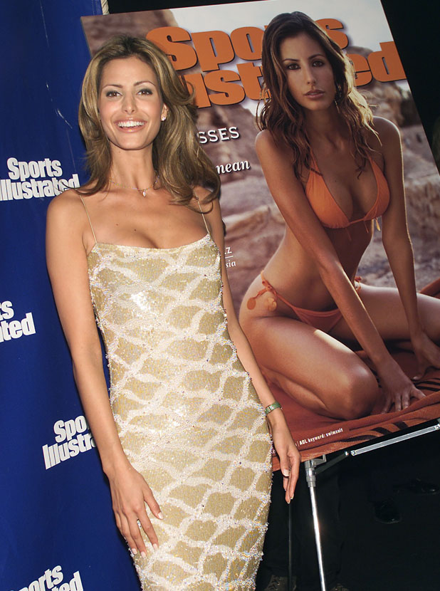 Elsa at 2001 Swimsuit launch  ::  Getty Images