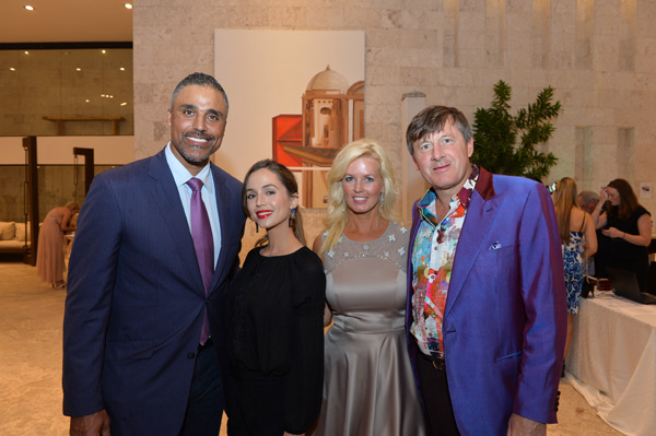 Rick Fox, Eliza Dushku, Craig Sager and wife :: Photo Courtesy of  David Ortiz Children's Fund