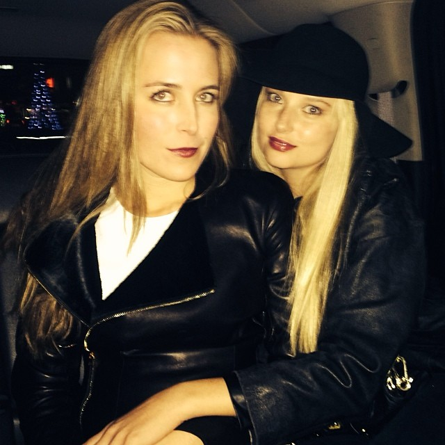 @genevievemorton: My love and I in uber to Christmas party :)