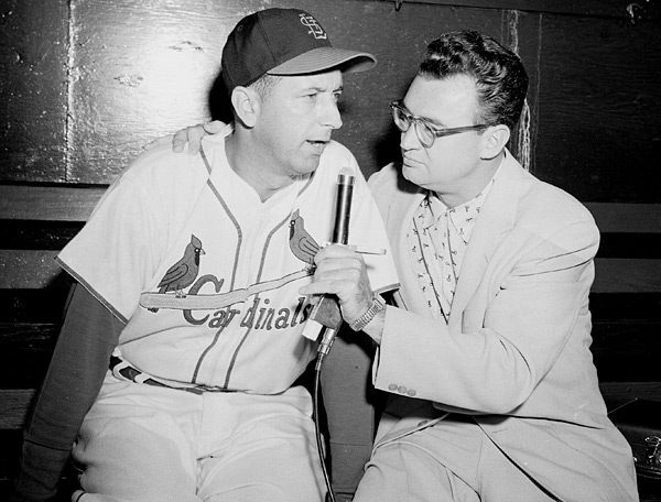 Harry Caray and Harry Walker :: AP