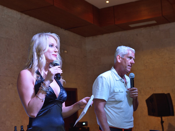 Heidi Watney and Lenny Clarke :: Photo Courtesy of  David Ortiz Children's Fund