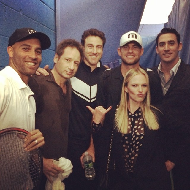 @annev_official: Lucky me with all these hot studs @mattharvey33 @justingimelstob @johnrisner #andyroddick #jamesblake #davidduchovney