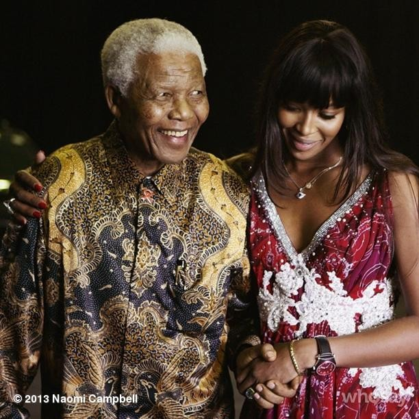 @iamnaomicampbell: Nelson Mandela has stood as a figure of strength, hope, freedom, selflessness and love, and I join everyone across the world in mourning his passing. However, he was much more than just a figurehead to me - he was my mentor, my honorary