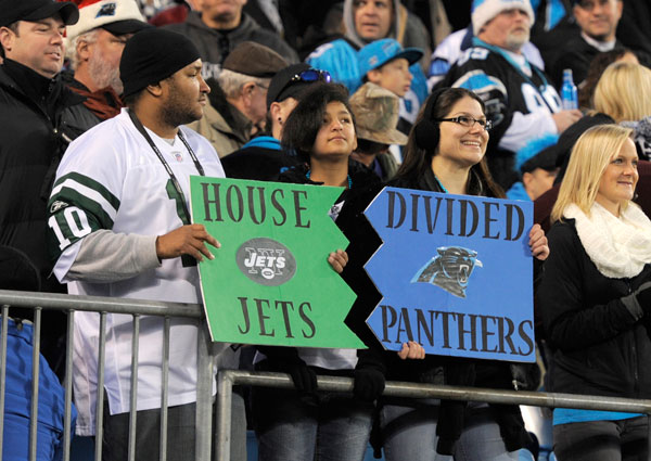 New York Jets and Carolina Panthers :: AP