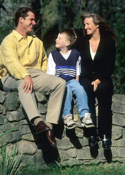 Jim, Jay and Miah Harbaugh :: David Walberg/SI