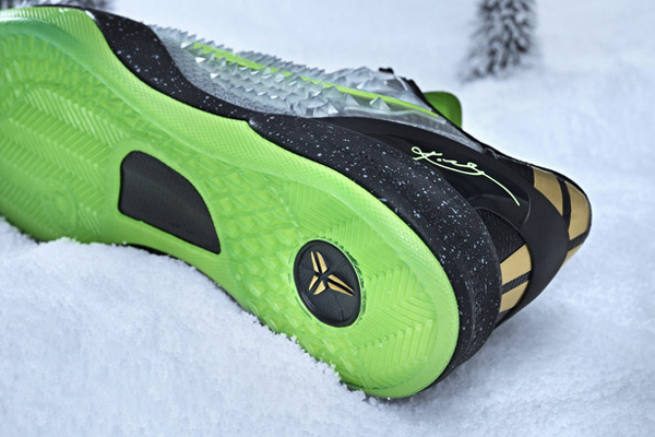 A look at the sole of the Christmas version of Kobe Bryant's signature Nike sneaker, the Kobe 8. (Nike)