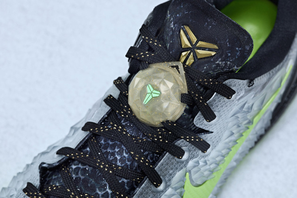 A top-down look at the Christmas version of Kobe Bryant's signature Nike sneaker, the Kobe 8. (Nike)