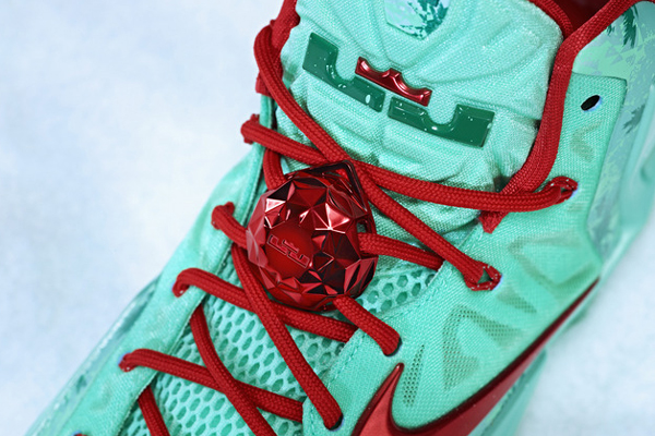 A top-down look at the Christmas version of LeBron James' signature Nike sneaker, the LeBron 11. (Nike)