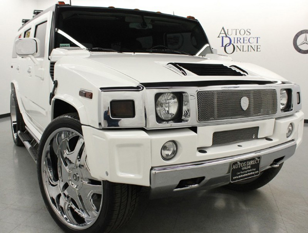 An angle view of the Hummer H2 that LeBron James drove during high school (Autos Direct Online)