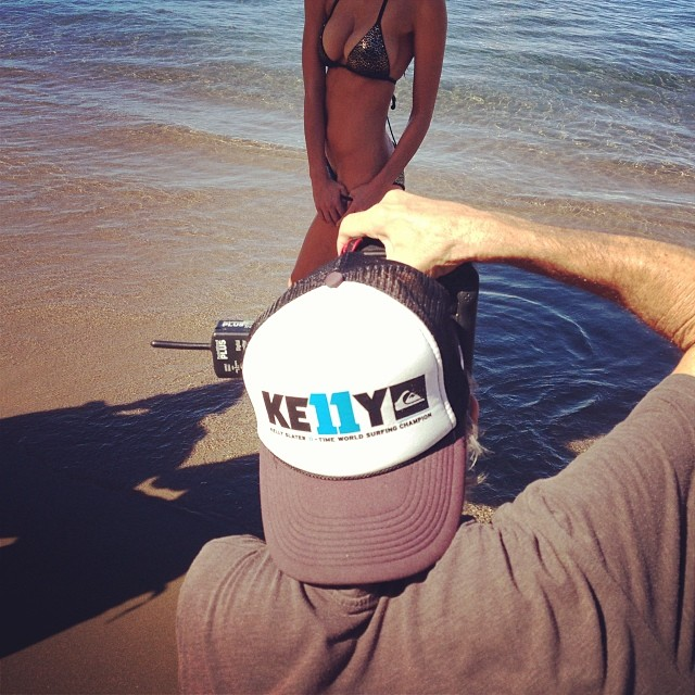 12/6 @ 9:27 am:  @kellyslater representing here with #siswim and @walteriooss