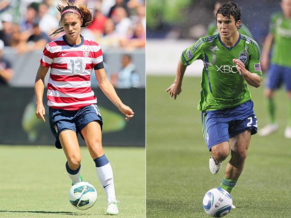 Alex Morgan and Servando Carrasco :: Getty Images