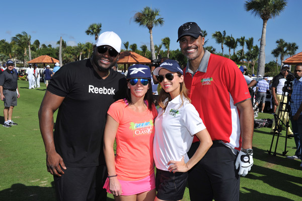 David Ortiz, Tiffani Ortiz, Eliza Dushku and Rick Fox :: Photo Courtesy of  David Ortiz Children's Fund