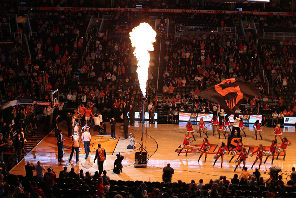Phoenix Suns introductions :: Getty Images