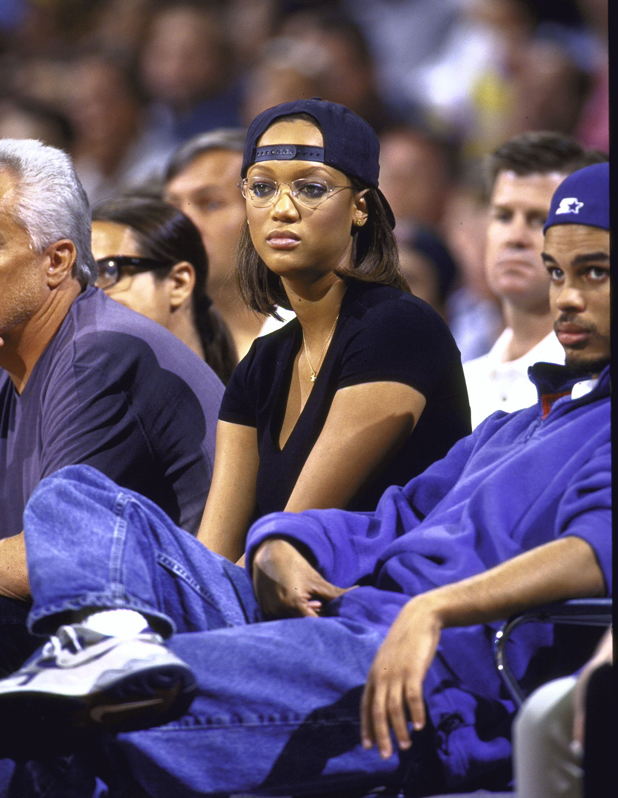 At a Lakers game, 1998  ::  John W. McDonough/SI