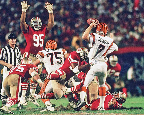 Boomer Esiason (Super Bowl XXIII, Jan. 22, 1989) :: Walter Iooss Jr./SI