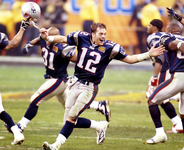 Tom Brady (Super Bowl XXXVIII, Feb. 1, 2004) :: John W. McDonough/SI