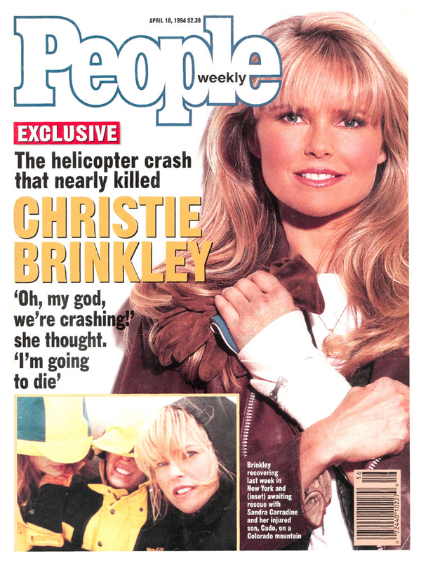 "4/18/94 :: She and friend Ricky Taubman crashed while heli-skiing in Telluride. Christie told PEOPLE, ""All of a sudden I said, 'Alexa...I am her mother, and she needs me. I am not going to die. I refuse. I won't.'"