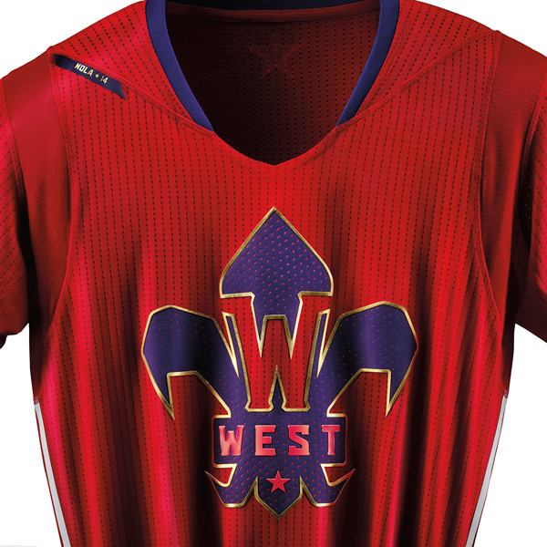 A close-up look at the 2014 NBA All-Star jersey for the West. (Adidas)