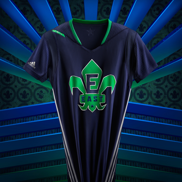 The 2014 NBA All-Star jersey for the East. (Adidas)