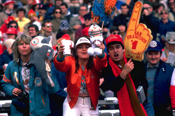 Miami Dolphins and San Francisco 49ers                                 Super Bowl XIX, 1985 :: Al Messerschmidt/Getty Images