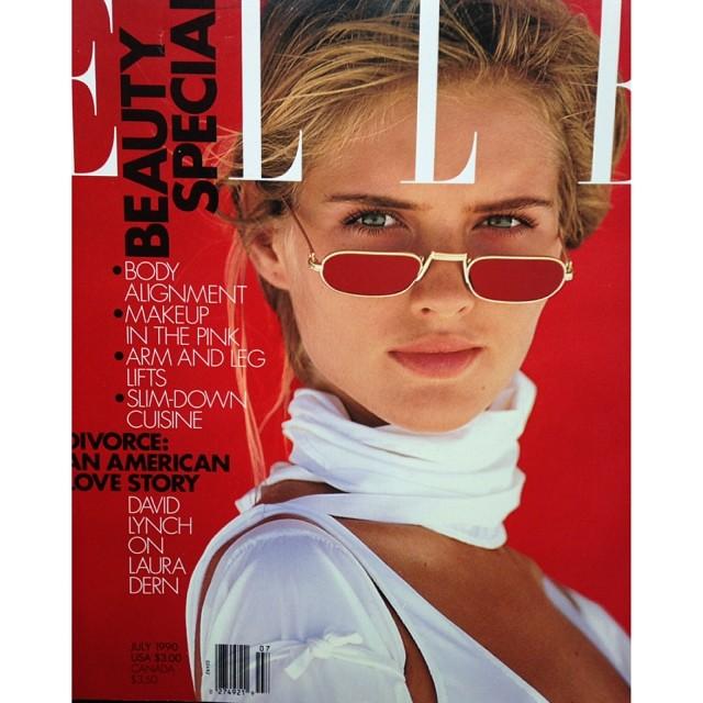 @juditmasco: American Elle #photo by #GillesBensimon July 1990 See the world through rose-tinted glasses  @elleusa #ElleUsa
