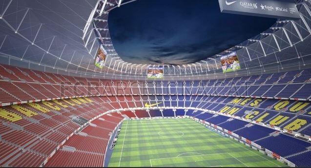 Proposed new Camp Nou (image courtesy of FC Barcelona)