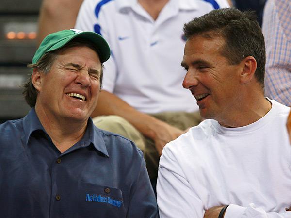 Bill Belichick and Urban Meyer :: AP