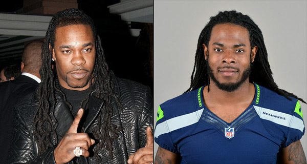 Busta Rhymes: rapper and                    Richard Sherman: Seahawks cornerback ::  J. Vespa/WireImage; AP