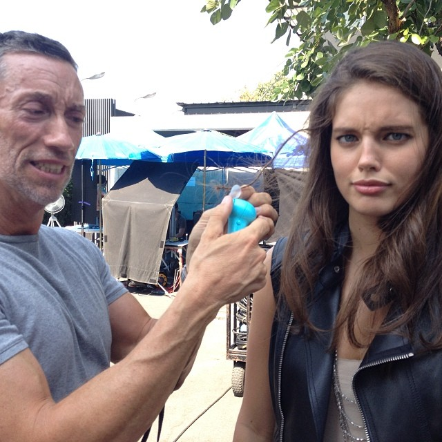 @emilydidonato1: Causing hair drama because I got a mini fan stuck in my hair @maybelline @maybellinenewyork #bangkok
