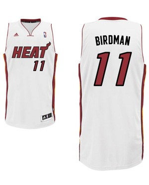 "Heat center Chris Andersen's ""Birdman"" nickname jersey. (Heat.com)"