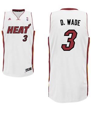 "Heat guard Dwyane Wade's ""D. Wade"" nickname jersey. (Heat.com"