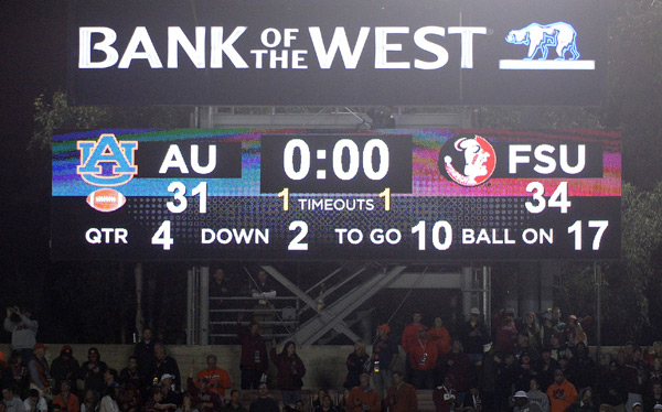 Rose Bowl scoreboard :: Getty Images