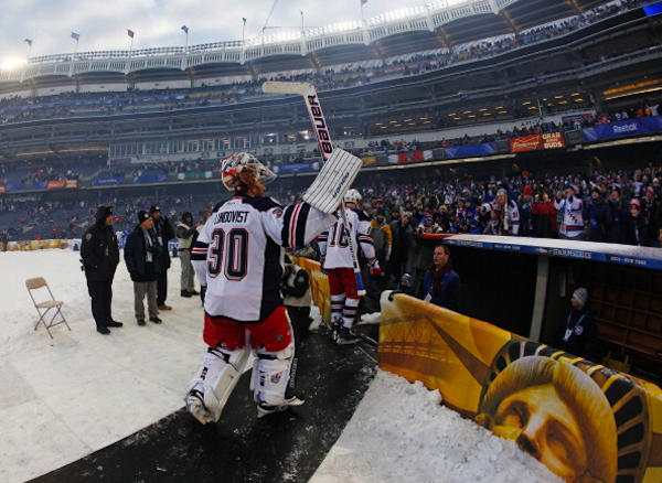 Lundqvist headed back into the dugout. (Getty Images)