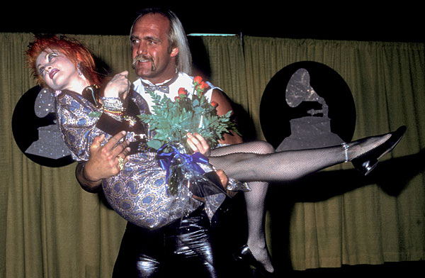 Hulk Hogan and Cyndi Lauper :: Getty Images