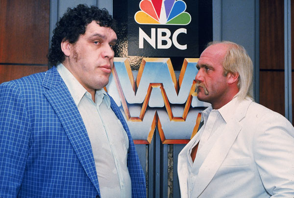 Hulk Hogan and Andre the Giant:: AP