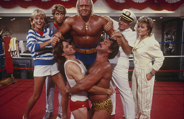 Hulk Hogan and 'Love Boat' cast :: Getty Images